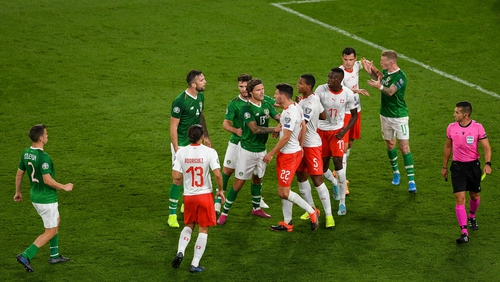 Tensions were high at stages of last night's 1-1 draw with Switzerland