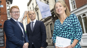Adam Bohill, Niall Jones and Orla O'Gorman from Euronext Dublin pictured at the launch of the IPO ready programme
