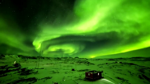The aurora is a natural light phenomenon predominantly seen in the high-latitude regions around the Arctic and Antarctic