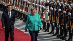 Chancellor Merkel arrived in China yesterday