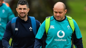Rob Kearney (L) with Rory Best