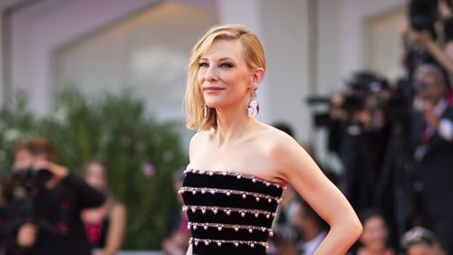 Actress Cate Blanchett poses for photographers upon arrival at the premiere of the film 'Joker' at the 76th edition of the Venice Film Festival, Venice, Italy, Saturday, Aug. 31, 2019. (Photo by Arthur Mola/Invision/AP)