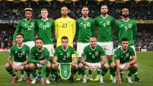 The Republic of Ireland starting line-up for their Euro 2020 qualifier against Switzerland