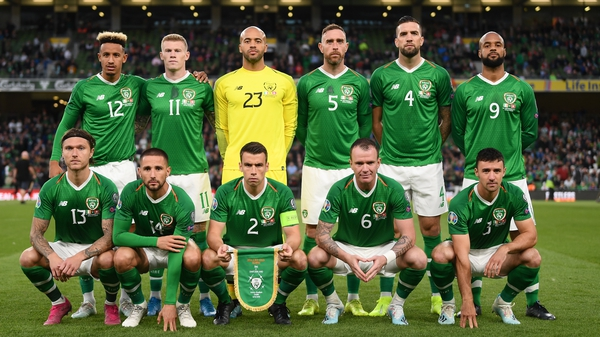 The Republic of Ireland face Denmark on Monday night