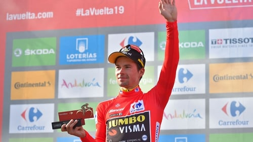 Primoz Roglic extended his overall lead by 33 seconds