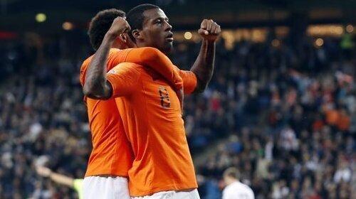 Georginio Wijnaldum scored the Netherlands' fourth