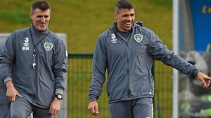 Jonathan Walters (R) with Roy Keane during Ireland camp back in 2015