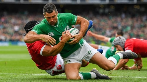 Liam Williams Rob Kearney scores Ireland's first try