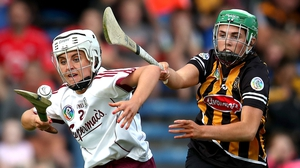 Miriam Walsh of Kilkenny and Galway's Cliodhna Walsh in action during this year's league final