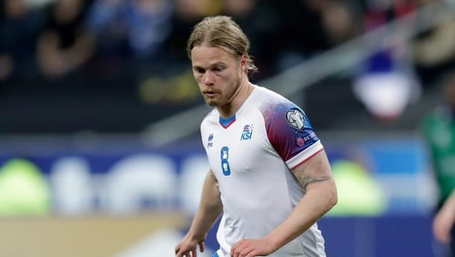 Bjarnason (file pic) helped Iceland to victory over Moldova