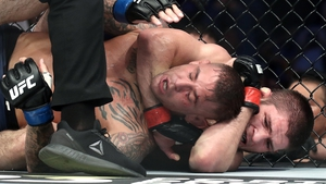 UFC lightweight champion Khabib Nurmagomedov claimed a comprehensive victory