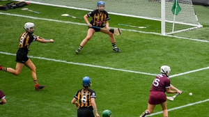Ailish O'Reilly of Galway fires home her side's first goal