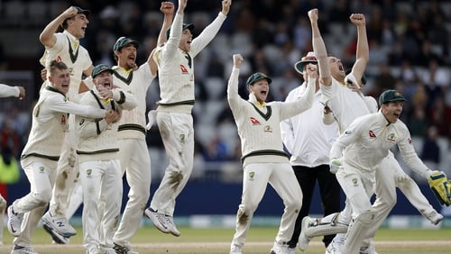 Australia get the celebrations started at Old Trafford