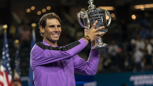Rafael Nadal moved to within one title of Roger Federer's record total of 20