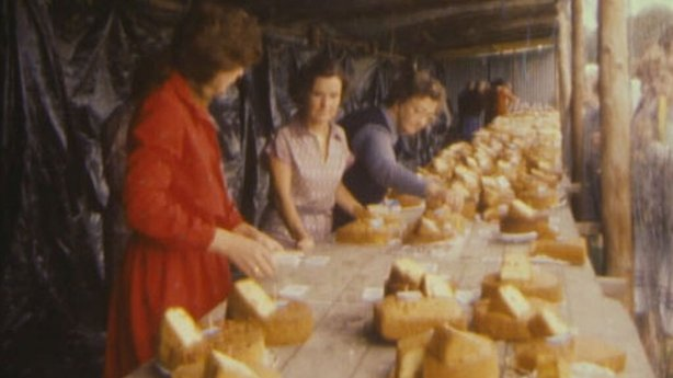 Cake judging at Piltown Show (1984)
