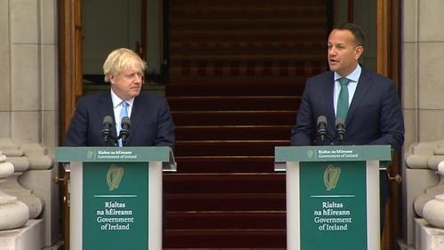Cruinniú ag an Taoiseach le Boris Johnson ar maidin