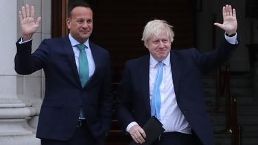 Leo Varadkar agus Boris Johnson ag Tithe an Rialtais, 9 Meán Fómhair