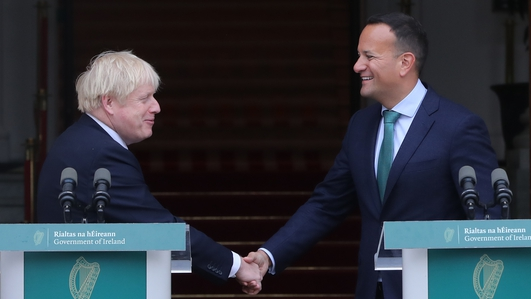 Boris Johnston And Leo Varadkar Meeting In Dublin