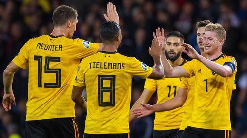 Belgium top the group with six wins from six