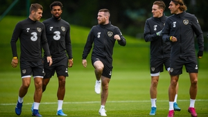Jack Byrne has looked at home in his first Ireland senior squad