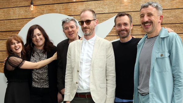 Extra Ordinary: Claudia O'Doherty, Maeve Higgins, Barry Ward, Enda Loughman, Will Forte and Mike Ahern in Texas. (Pic: Robin Marchant/Getty Images for Twitter)