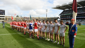 Respect hand shake prior to this year's minor final