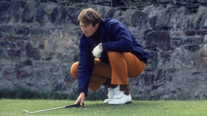 Scottish golfer Brian Barnes competing in the Ryder Cup at Muirfield Links in 1973