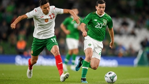 Josh Cullen made his senior debut for Ireland against Bulgaria