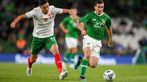 Josh Cullen made his senior debut for Ireland against Bulgaria