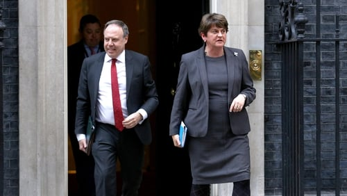 Arlene Foster and Nigel Dodds met the British Prime Minister in Downing Street this evening