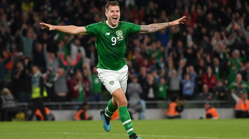 James Collins celebrates his goal