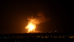 The Israeli military said it hit '15 terrorist targets' in Gaza