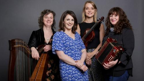 Harpist Laoise Kelly, vocalist Nell Ní Chróinín, fiddler Tara Breen and accordion player Josephine Marsh