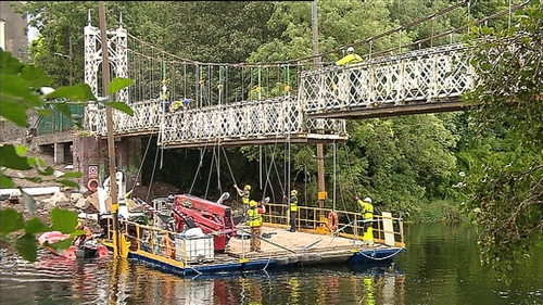 The bridge is due to reopen next Easter