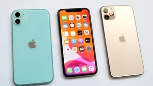 Apple said revenue from its smartphones fell 9% in the quarter to $33.4 billion