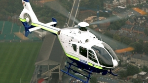 A garda helicopter took part in the search (Pic: garda.ie)