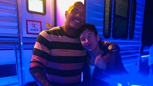 Dwayne Johnson and Barry Keoghan met during the Disney 23 Expo in August, image via Barry Keoghan/Twitter