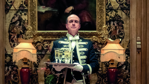 Kevin Doyle as humble footman Molesley in Downton Abbey