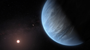 A handout photo made available by the European Space Agency (ESA) shows an artist's impression of the planet K2-18b