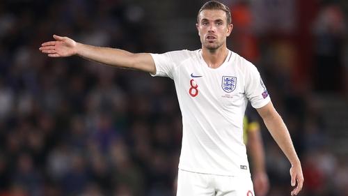 Jordan Henderson won his 53rd England cap in the win over Kosovo