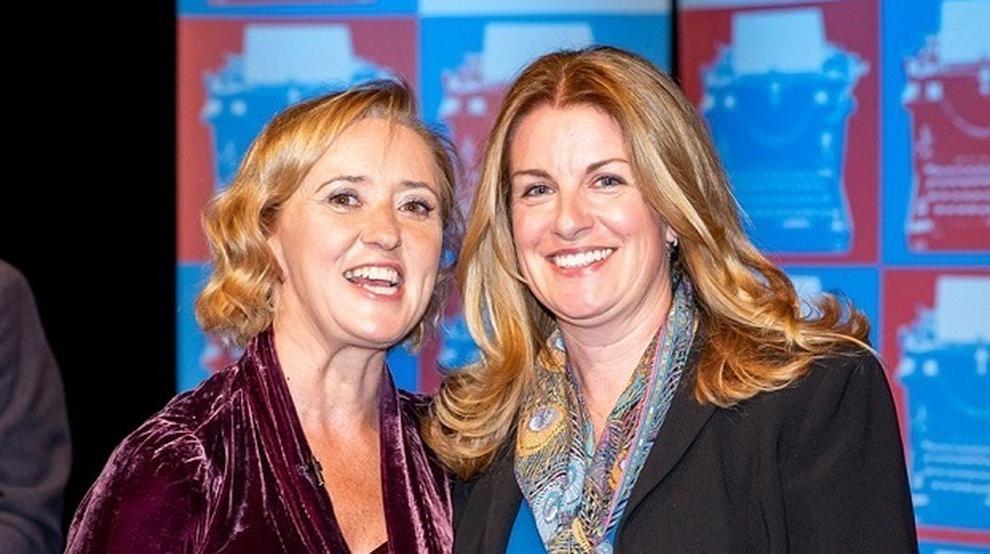 Liz Houchin with Liz Nugent