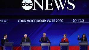 Joe Biden pushed hard against Bernie Sanders and Elizabeth Warren in an almost three-hour showdown in Houston