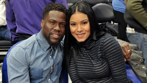 Kevin Hart and his wife Eniko