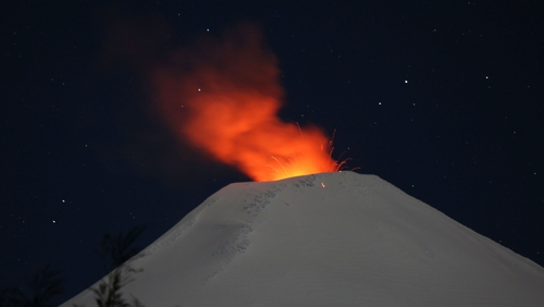 Villarrica in Chile, as seen this week