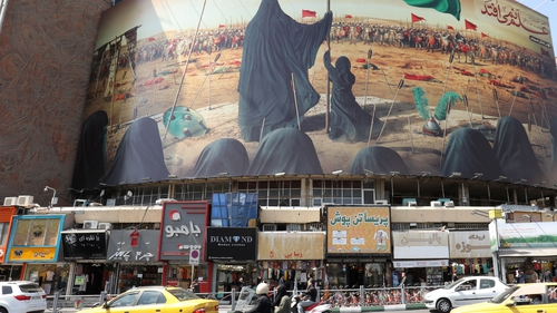 Vali Asr Square in the Iranian capital Tehran