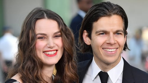 Keira Knightley and James Righton were photographed walking in London with a pram