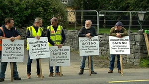 Several protests have been held in opposition to the location of a direct provision centre in Oughterard