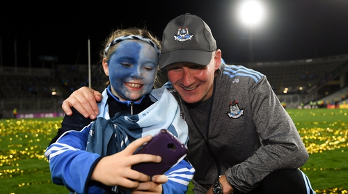 Gavin shares a selfie with a young fan following the All-Ireland replay win