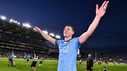 The Dubs midfielder greets fans after the final whistle