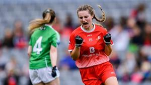 Niamh Rice celebrates her goal
